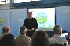 Vice-presidente da cooperativa, Gervásio Jorge Diel, falou sobre a história da cooperativa