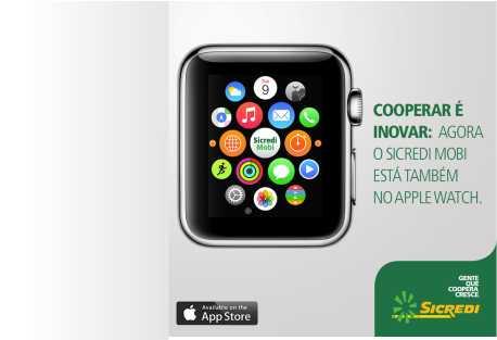 Sicredi inova e oferece aos associados um aplicativo para Apple Watch