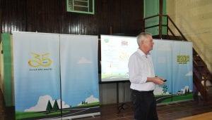 Presidente da cooperativa abordou a história da Sicredi Alto Jacuí