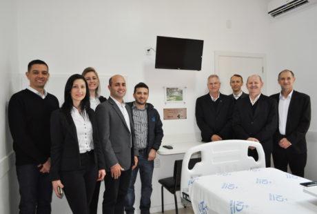 Hospital Notre Dame Júlia Billiart reinaugura quartos com doação de recursos da Sicredi Alto Jacuí