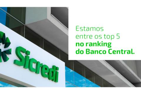 Sicredi é destaque no ranking do Banco Central