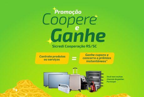 Sicredi Cooperação RS/SC promove primeiro sorteio da Promoção Coopere e Ganhe na próxima semana