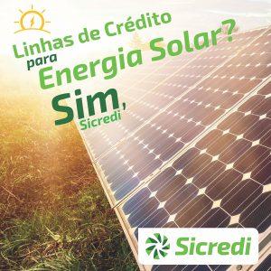 Sicredi financia energia solar