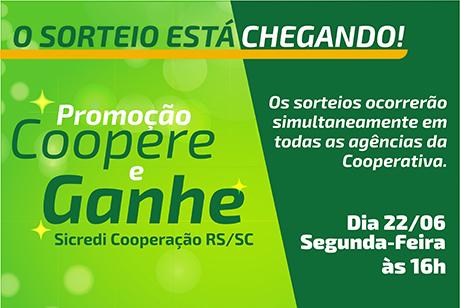 Sicredi Cooperação RS/SC promove último sorteio da Promoção Coopere e Ganhe
