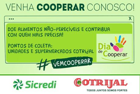 Sicredi e Cotrijal promovem ação pelo Dia C de Cooperar