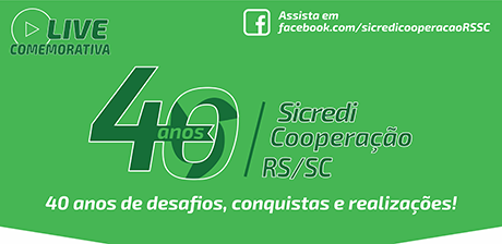 Sicredi Cooperação RS/SC convida para live de aniversário