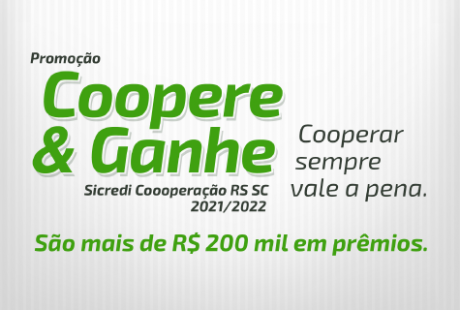 Sicredi Cooperação RS/SC lança nova edição da Campanha Coopere e Ganhe